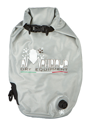 Borsa impermeabile da sella Amphibious Tube Light Evo 3 Grigio