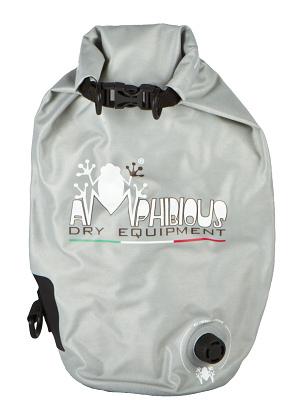 Waterproof bag saddle Amphibious Ages 20 Tube Light Grey