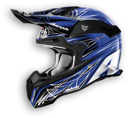 Airoh Terminator Sharp off-road helmet blue