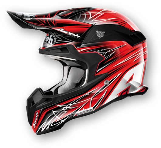 Airoh Terminator Sharp off-road helmet red