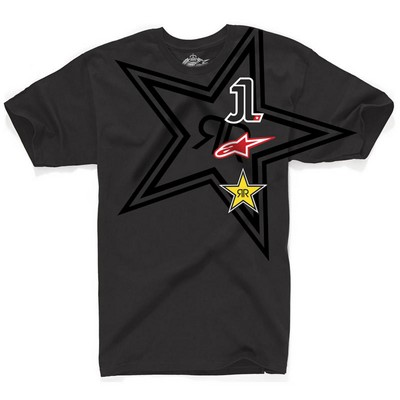 T-shirt Alpinestars El Uno Tee nera Serie Limitata Jorge Lorenzo