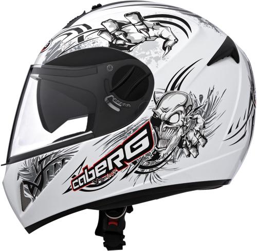 Caberg V2 407 Hellracer II  full-face helmet white-black