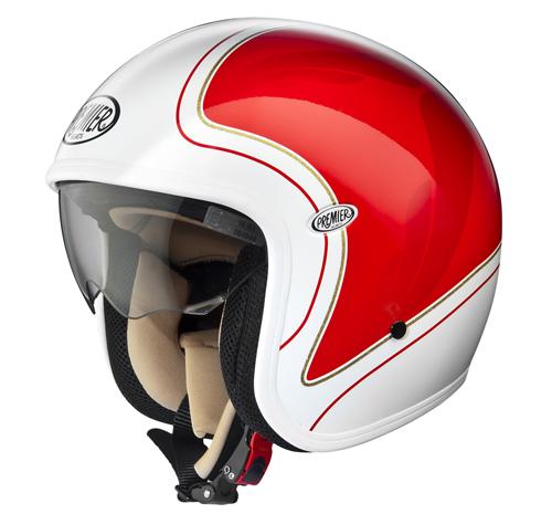 Premier VINTAGE HE21 demi-jet helmet White-Red