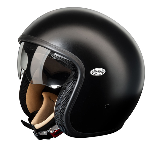 Premier VINTAGE U9BM demi-jet helmet Black