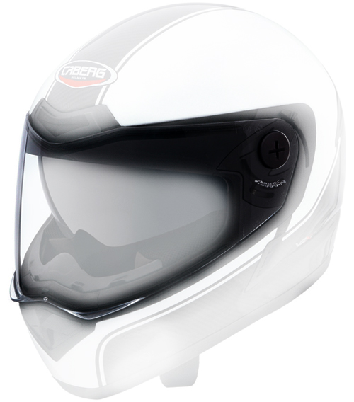 Clear antiscratch/antifog visor Caberg V2X Carbon