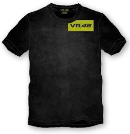 T-SHIRT  VR46 nero stone washed