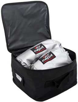 TNT Sports Capit tire warmers, 1 Set Superbike / Ss silver color