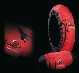 Maxima Vision Capit tire warmers, SuperMoto / 250GP, Red / Black