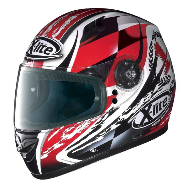 X-Lite X-602 Winner N-Com full-face helmet white - red 66