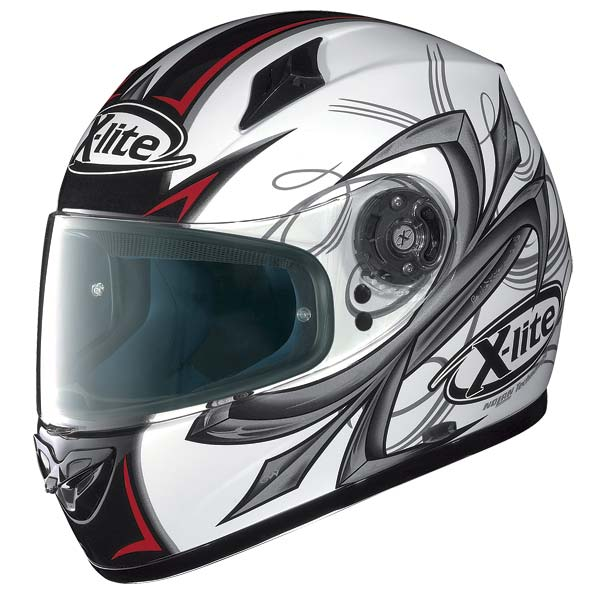 X-Lite X-602 Hook N-Com full-face helmet white 70