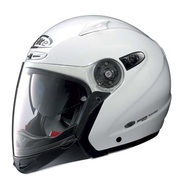 Casco moto X-Lite X402GT Elegance N-COM bianco metal J/P
