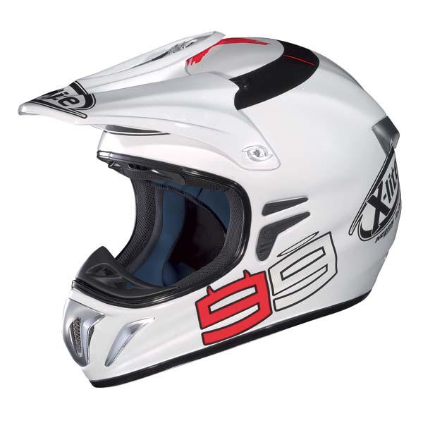 Casco moto X-Lite X501 Replica Lorenzo bianco metal