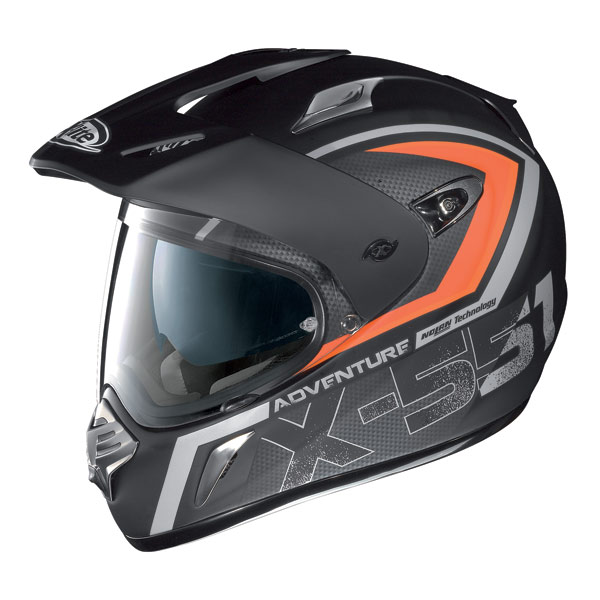 Casco moto X-Lite X551 Adventure N-Com flat black - red