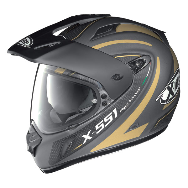 Casco Crossover X-Lite X-551N-Com Shift Flat Lava-gold