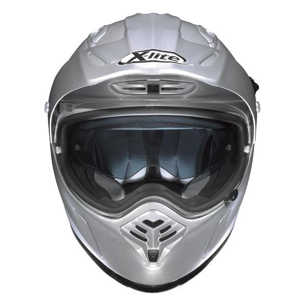 Casco moto X-Lite X551 N-COM Start bianco metal