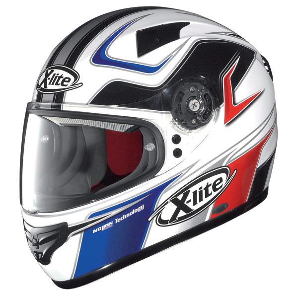 X-lite X-603 Speedy N-Com white-red-blue fullface helmet