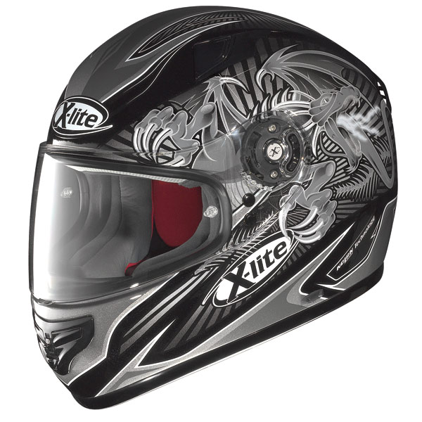 Casco moto X-Lite X-603 Hell N-Com metal black-grey