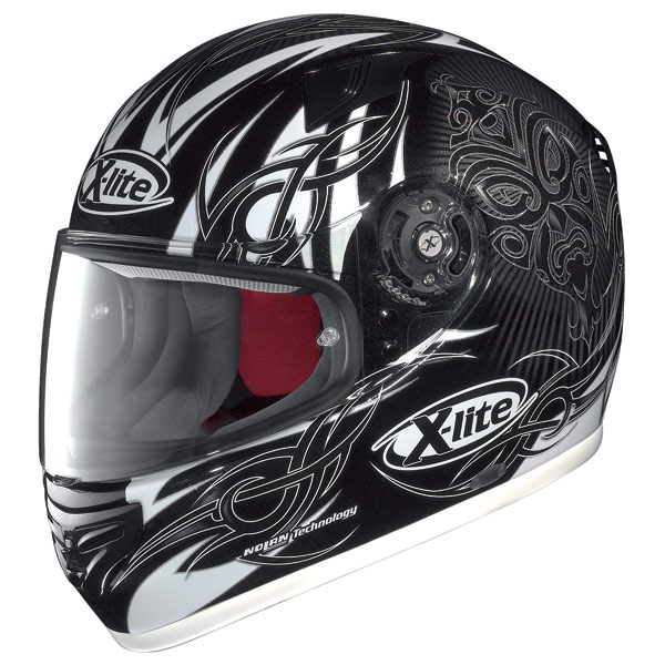 Casco moto X-Lite X-603 Mask N-Com metal black-white