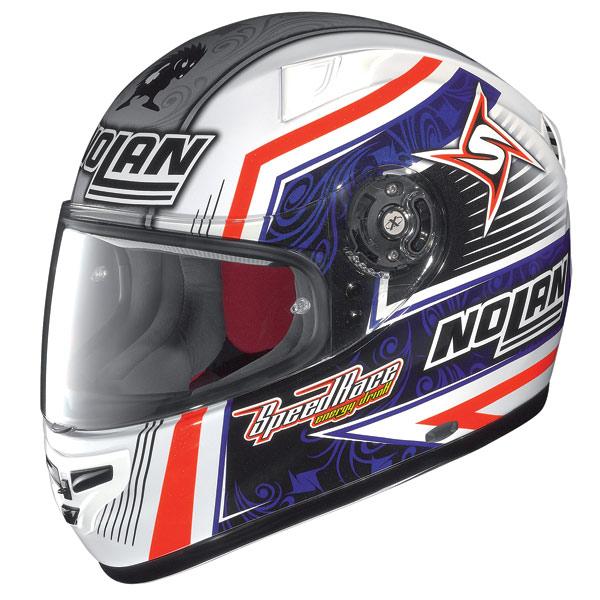 X-lite X-603 Replica N-Com Melandri metal white fullface helmet