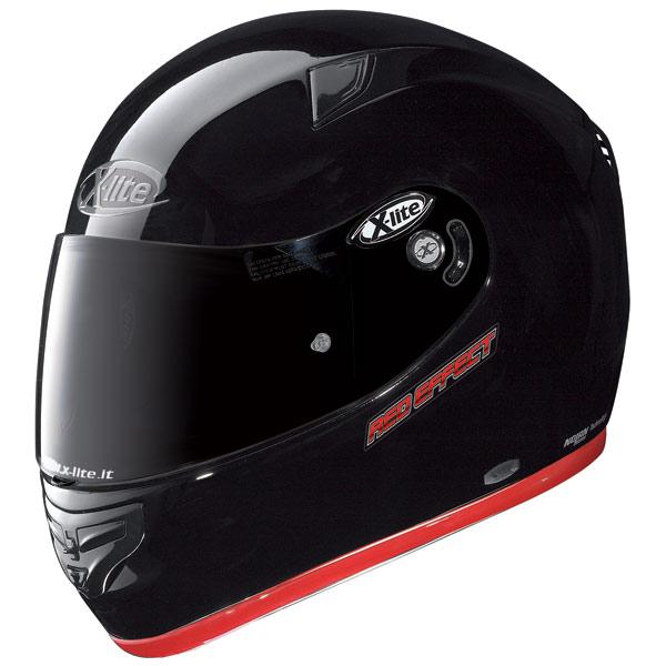 X-lite X-603 Red Effect N-Com black fullface helmet