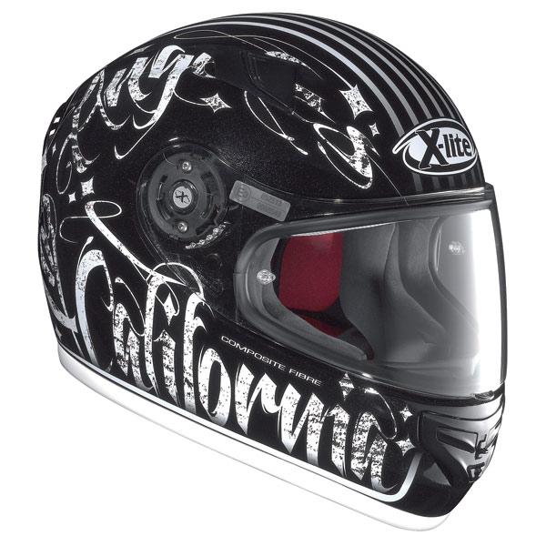 X-lite X-603 Dolly N-Com metal black-white fullface helmet