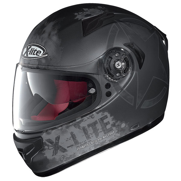 X-Lite X-661 Airman N-Com full face helmet Matt gray