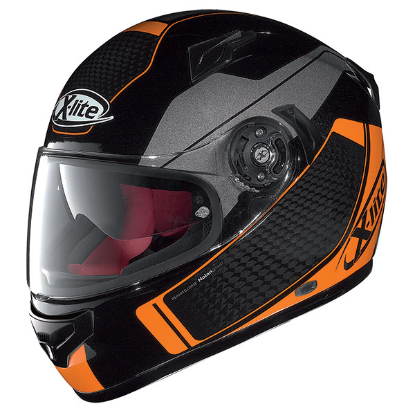 X-Lite X-661 Blink N-Com full face helmet Black Orange