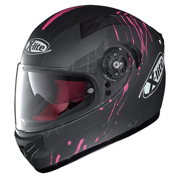 X-Lite X-661 Spox N-Com full face helmet Grey Matte Pink