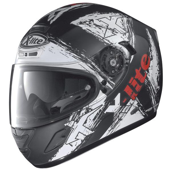 X-Lite X702 Scraped N-Com flat black enduro helmet