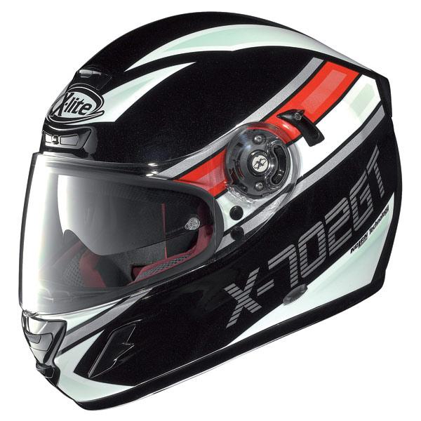 Casco moto X-lite X702 GT Chased N-Com nero metal