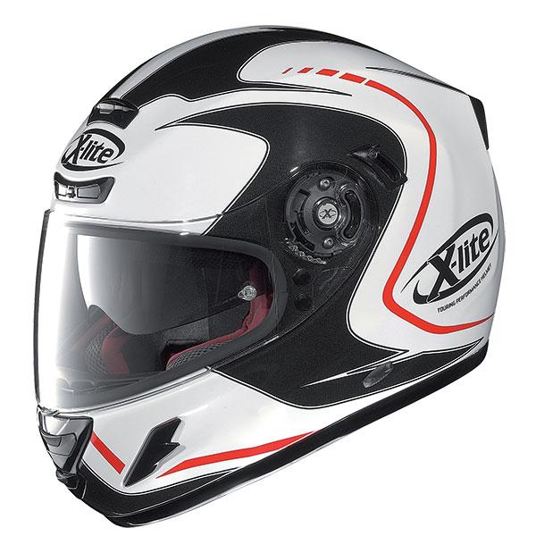 X-Lite X-702 GT Cosy N-Com full face helmet White Black Red