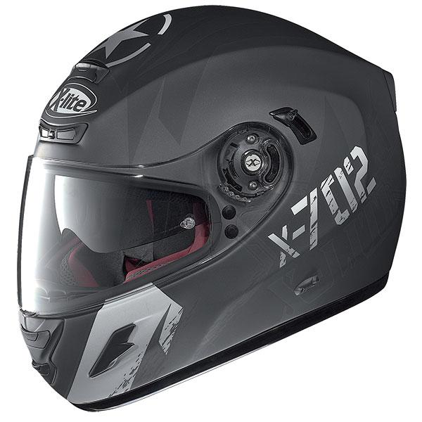 X-Lite X-702 GT Fightex N-Com full face helmet Matte Black Grey