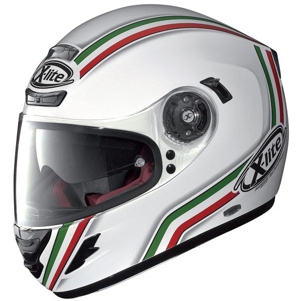 Casco moto X-lite X702 GT League N-Com bianco metal