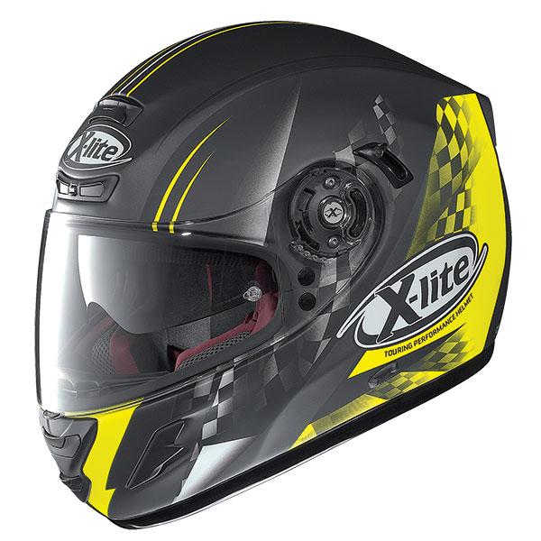 X-Lite X-702 GT Racy N-Com full face helmet Matte Black Yellow