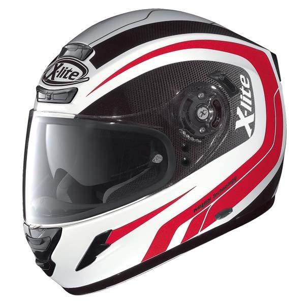Casco moto X-Lite X702 Swift N-COM bianco-rosso