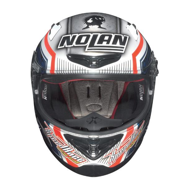 Casco moto Nolan X-802R Replica Melandri bianco