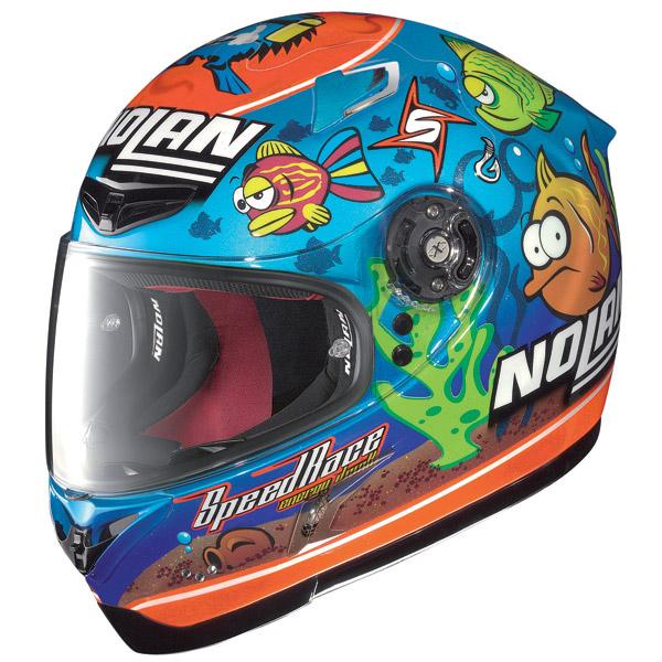 Nolan X802-R Replica Aquarium Pearl blue fullface helmet