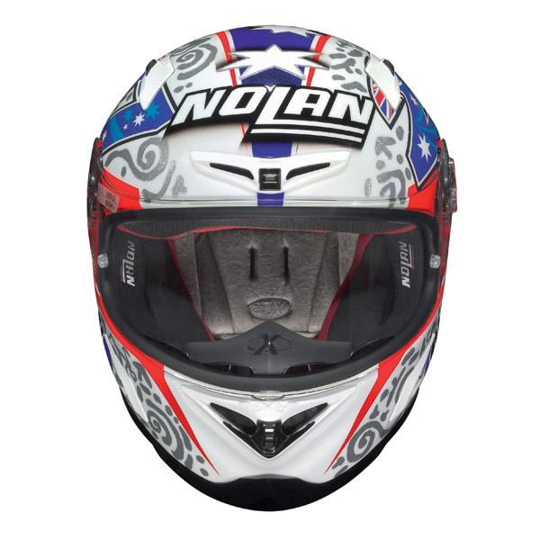 Nolan X802-R Replica Stoner P.I. white fullface helmet