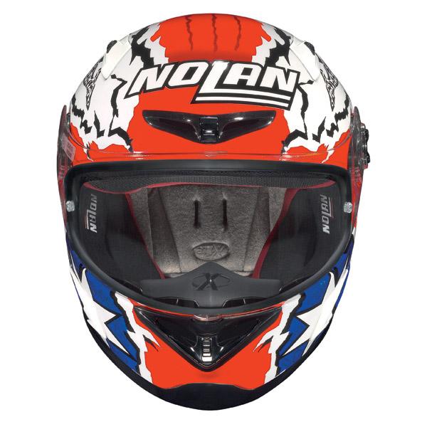 Nolan X802-R Replica Stoner white fullface helmet