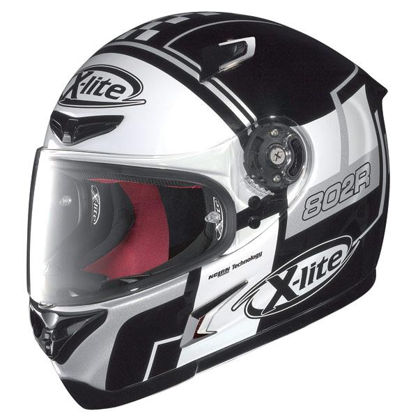 Casco moto X-Lite X-802R Rush nero-bianco-grigio