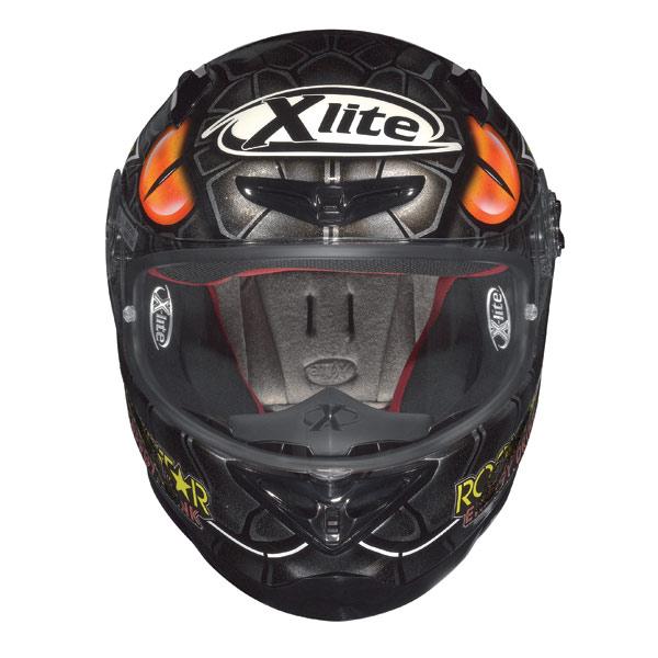 X-Lite X-802R Replica Lorenzo Mamba metal black fullface helmet