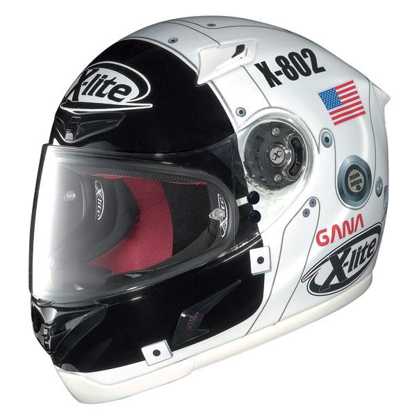 Casco moto X-Lite X-802R Replica Lorenzo Moon white