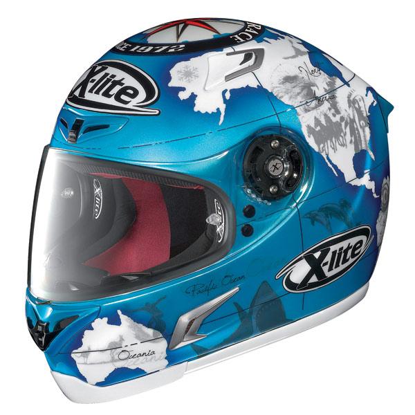 X-Lite X-802R Replica C.Checa pearl blue fullface helmet
