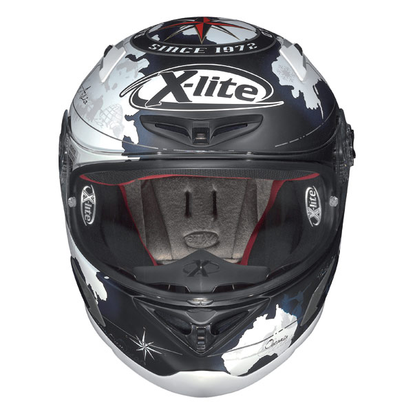 Casco moto X-Lite X-802R Replica C.Checa flat black