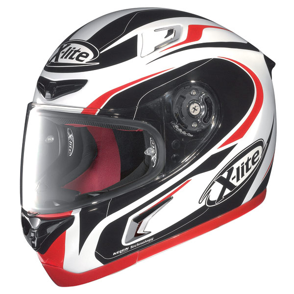 Casco moto X-Lite X-802R Racer bianco-rosso-nero