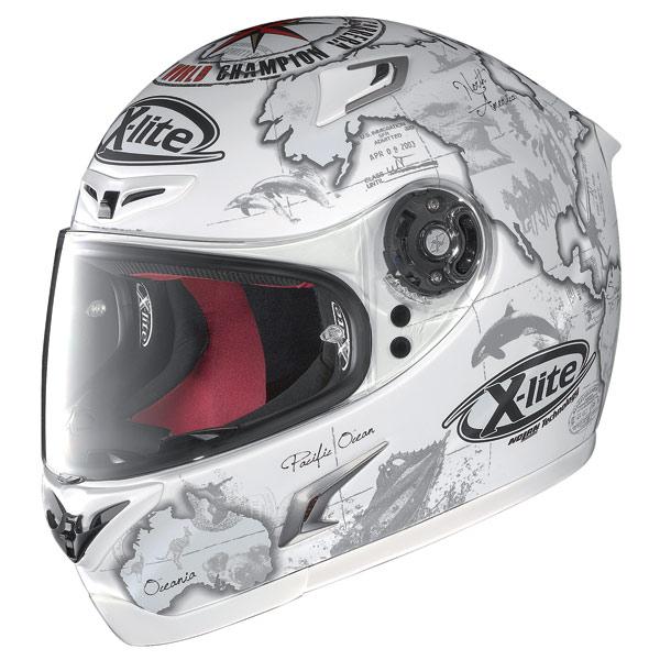 Casco moto X-Lite X-802R Replica C.Checa flat white