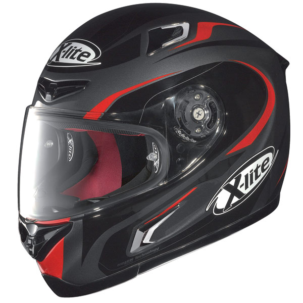 X-lite X-802R Racer fullface helmet lava grey-red