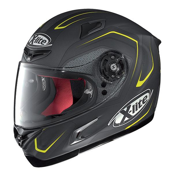 X-Lite X-802R Helder full face helmet Black asphalt Yellow
