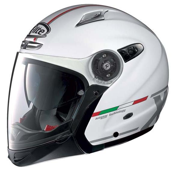 Casco moto X-Lite X402GT HERO N-COM Bianco Metal J/P