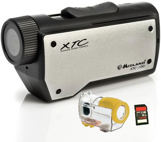 Videocamera Midland XTC-200 Action Camera+ custodia H2O+ SD card